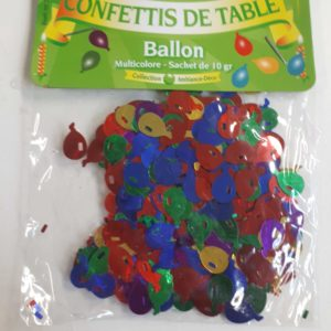 Confettis de table ballons