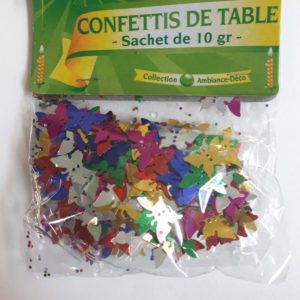 Confettis de table papillons