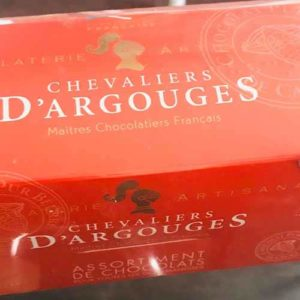 BOITE ROUGE CHOCOLATERIE ARTISANALE : ASSORTIMENT DE CHOCOLATS 185 GR