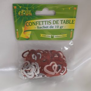 Confettis de table Cœur