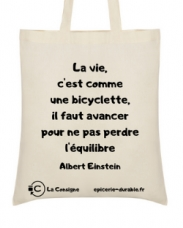 Sac tote bag en coton bio Albert Einstein